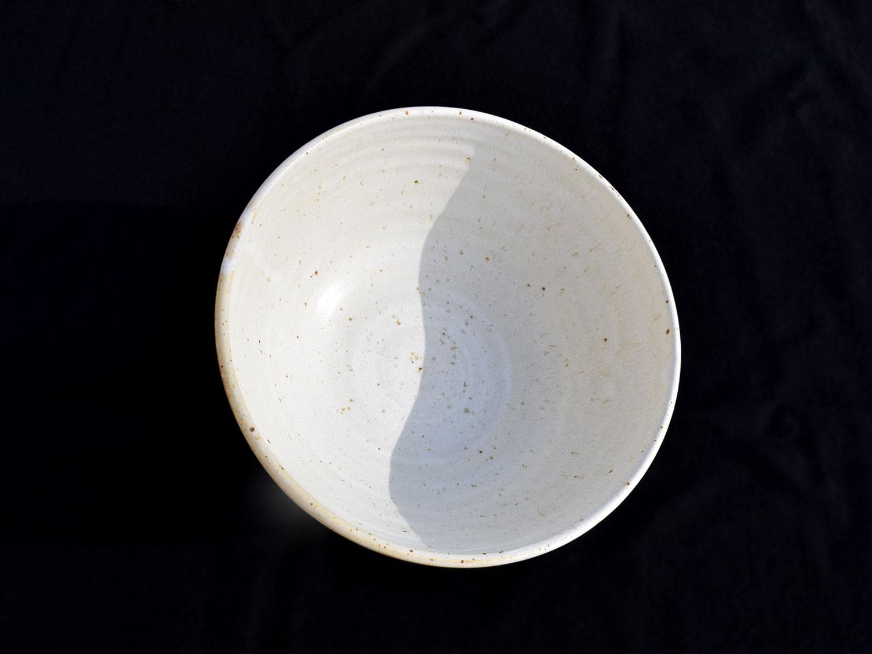 Grand bol grès crème grainé