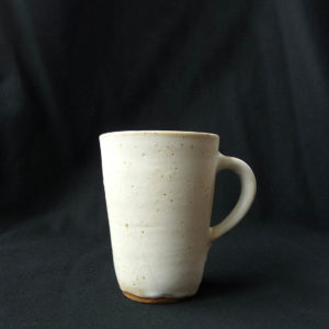 Grand mug blanc en grès