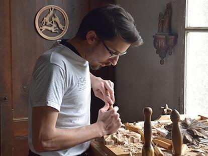 Silvère Grandvoinnet à l'atelier