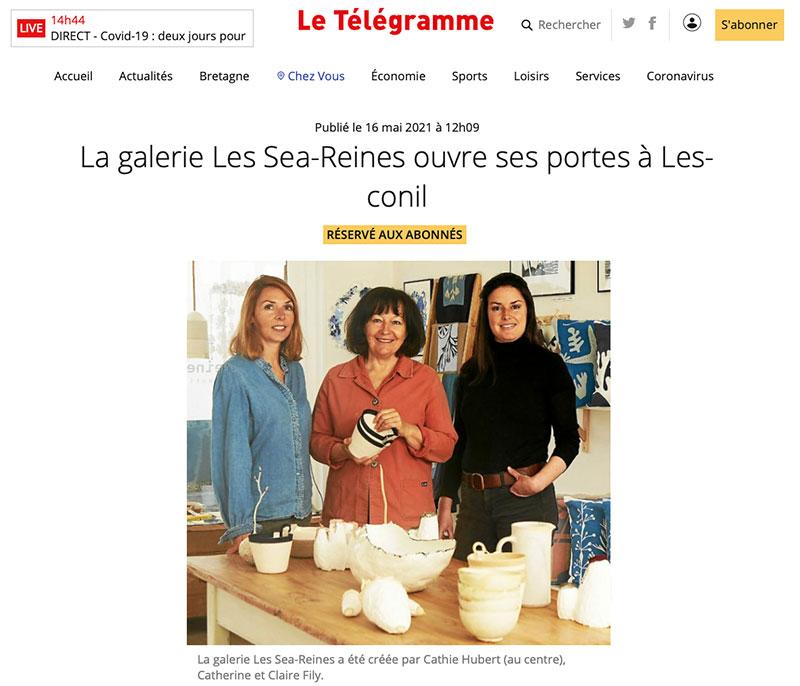 La galerie Les Sea-Reines ouvre ses portes à Lesconil